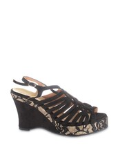 Strappy Black Wedges - ZAERA