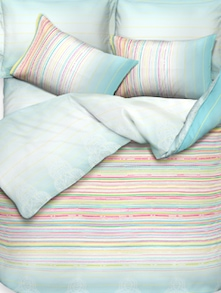 Light Blue Bed Linen Set Of 3 - Esprit