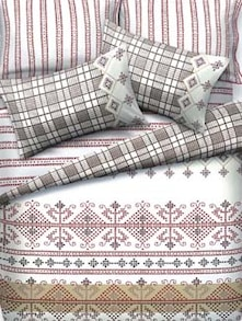 White Printed Bed Linen Set Of 3 - Esprit