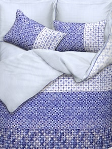 Blue And White Printed Bed Linen Set Of 3 - Esprit