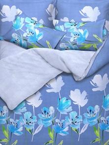 Blue Floral Bed Linen Set Of 3 - Esprit