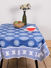 Bright Blue Designer Table Cover - Ocean Collections
