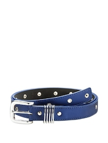 Blue Metal Embellished Belt - Oleva