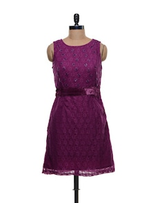 Purple Lace Dress - Shimaya
