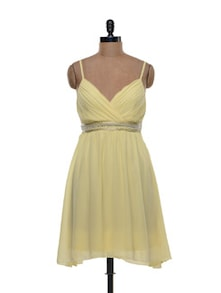 Pretty Yellow Strappy Dress - Shimaya