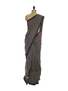 Bengal Cotton Silk Black Saree - Spatika Sarees