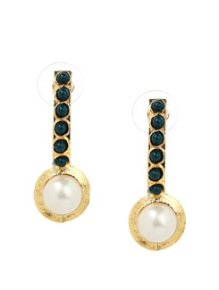 Stylish Pearl & Stone Studded Earrings - KSHITIJ