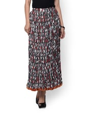 Crushed Cotton Crescent Skirt - Myra