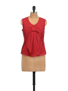 Dull Red Bow Top - Meee