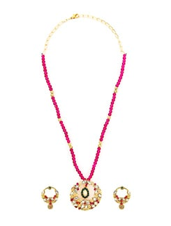 Ethnic Multicoloured Necklace Set - KSHITIJ