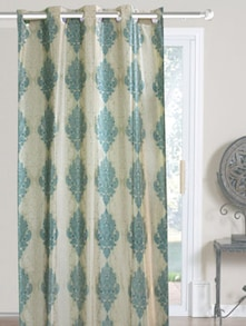 Blue & White Window Curtains - Dekor World