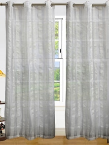 White Window Curtains - Dekor World
