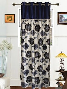 Blue Floral Drape - Dekor World