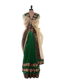Emerald Cotton Silk Saree - Purple Oyster