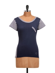 Striped Blue And White Top - QUEST