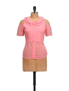 Candy Pink Cut-Out Top