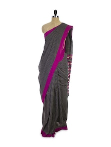 Contemporary Designer Cotton Saree - Spatika Sarees