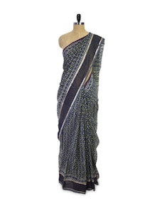 Printed Maheshwari Cotton Silk Saree - Spatika Sarees