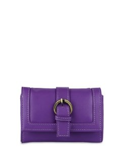 Purple Wallet With Mobile Phone Pocket - ALESSIA