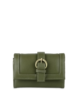 Olive Green Wallet With Mobile Phone Pocket - ALESSIA