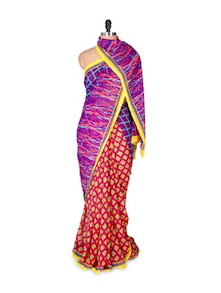 Colour And Prints Georgette Saree - Fabdeal