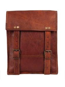 Bravo Brown Vertical Leather Satchel Bag - Rustic Town
