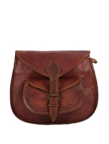 Brown Leather Gypsy Bag - Rustic Town