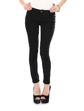 Bold Black Cotton Lycra Stretchable Jeggings - Glam And Luxe