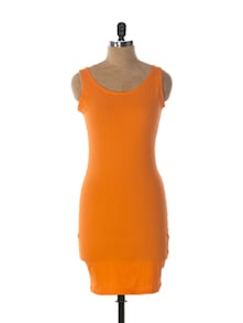 Vivacious Orange Bodycon Dress - Miss Chase