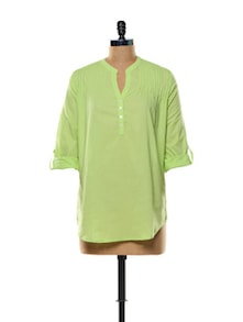 Lime Green Cotton Top - Mishka
