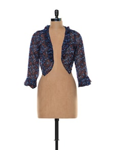 Multi-print Blue Shrug - Trend 18