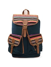 Navy Blue Canvas Backpack -  online shopping for backpacks
