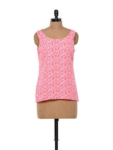 Floral Printed Polyester Crepe Top - Meira