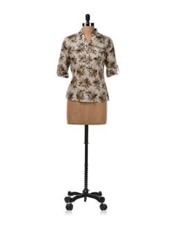 Lazy Day Floral Print Shirt - Van Heusen