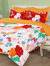 Multicolour Floral Printed Bed Sheet - Birla Century