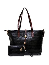 Black Tote With Coin Pouch - Thegudlook