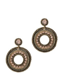 Crystal Studded Gold Earrings - ESmartdeals