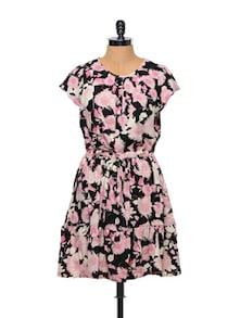 Floral Print Polyester Spring Dress - Stylechiks