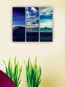The Serene Blue Wall Art (3 Pc) - Zeeshaan