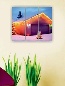 Lights Of Christmas Wall Art (3Pc) - Zeeshaan