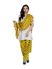 Yellow Polka-Dot Salwar And Dupatta Set - STRI