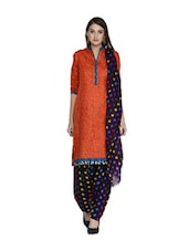 Purple Polka-Dot Salwar And Dupatta Set - STRI
