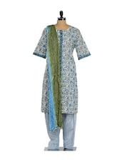 Floral Print Ethnic Salwar Suit - KILOL