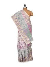Pretty Printed Cotton Silk Saree - Bunkar