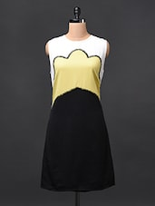 Color-Block Sleeveless Cotton Dress - RENA LOVE