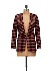 Fashionable Blazer In Black And Orange - Salt