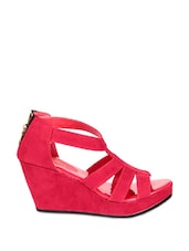 Red Strappy Wedges - Soft & Sleek