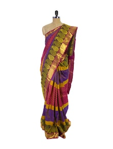 Multi Colored Kanchipuram Pattu Silk Saree - Pothys