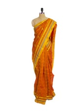 Orange Kanchipuram Pattu Silk Saree With Zari Work - Pothys