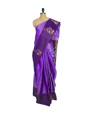 Purple Kanchipuram Mayuri Pattu Silk Saree With Brocade And Jacquard Work - Pothys
